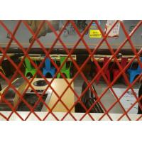China Decoration Expanded Aluminum Mesh , 0 . 4mm Thickness Red Coating Expanded Mesh on sale