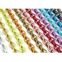 Durable Anodised Chain Link Curtain , Aluminium Fly Screen Chain Link Door Curtain Manufactures