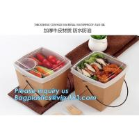 Wholesale design disposable food packaging kraft paper lunch box for food,disposable takeout food packaging kraft paper Manufactures