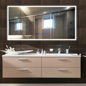 China Anti Fog Shower Mirror With Radio , Led Lighted Bathroom Mirror on sale