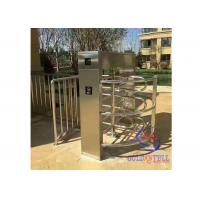 waterproof outdoor biometric electromagnetic entry access turnstile waist gate , cross poles barriers Manufactures