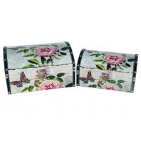 Portable Vintage Leather Metal Locked Home Storage Box Container Jewelry Storage Box Manufactures