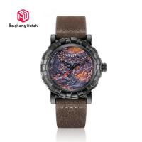 China Sport Water Resistant Mens Leather Strap Watches For Business Gift on sale