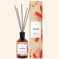 pattern packaging box retro glass bottle reed diffuser with natural essent Manufactures