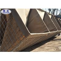 Galvanized Welded Gabion Bastion Wall , Protection Army Defensive Gabion Barrier Manufactures