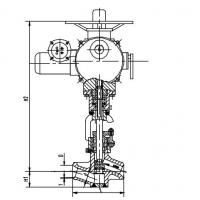 Integral Die Forging Power Station Valve, Electric Actuator J961Y DN40 DN50 Manufactures
