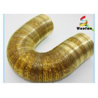Eco Friendly Gold Aluminum Flexible Duct , Fireproof Flexible AC Duct Manufactures