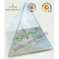 Handmade Custom Gift / Craft Clear Packaging Boxes Triangle Glossy Lamination Manufactures