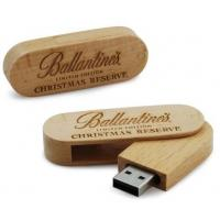 Wood Swivel Usb Memory Device Drive , 4Gb 16Gb Mini Usb Memory Stick 1 Year Warranty Manufactures
