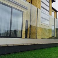 Quality Modern aluminum U base channel glass balustrade systems for balcony for sale