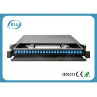 Drawer Custom Fiber Optic Cable Assemblies , 19 Inch 24 Port Fiber Rack Mount Manufactures