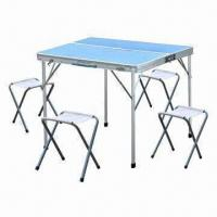 Plastic Folding Table for Camping, Measures 85.5x81.5x70cm Manufactures