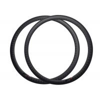 38mm Depth Carbon Fiber 700c Rims , Road Bike Wheel Rims 1 Year Warranty Manufactures