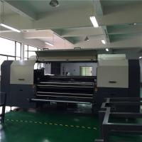 China Flatbed 1.8 m Cotton Digital Textile Printer With 4 - 8 Kyocera Printhead on sale