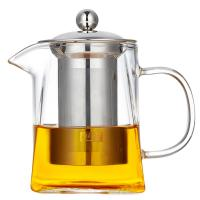 China 2018 new design square shape Heat-Resistant Borosilicate pyrex glass teapot with SS infuser on sale