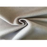 Breathable Woven Wool Fabric Light Grey 5% Crash 60% Wool 35% Other Manufactures