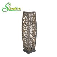 Outdoor Decorative Rattan Solar Garden Lights Energy Saving 1800lm-7200lm Manufactures