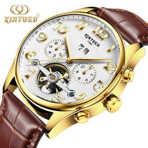 China KINYUED New Wrist Sport Watch Waterproof Tourbillon Skeleton Watch Watches Men Luxury Brand Automatic Top on sale