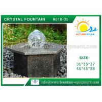 Hexagon Base Natural Stone Fountains Outdoor For Lanscape Hand Carved Manufactures