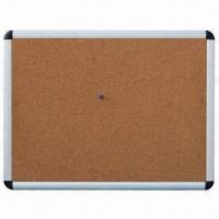 China Cork Board with Aluminum Frame, Suitable for Home or Office for Leaving Message on sale
