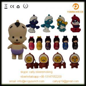 China various silicon PVC usb pendrive little child usb flash drive cartoon usb disk on sale