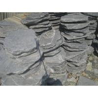 Black Slate Stepping Stones Natural Slate Round Shape Garden Landscaping Stone Pavers Manufactures