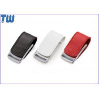 Quality Gadget Metal Body 32GB Pen Drives Leather Cover Magnet Connect for sale