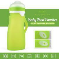 China 100% Food Grade FDA/LFGB Standard Squeezable Silicone Baby Feeding Bottle Infant Feeder for sale