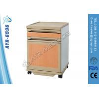 ABS Hospital Patient Room Accessories Bedside Table With Four Wheels Manufactures