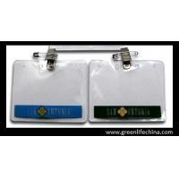 Custom printed horizontal office using business name card holder pouch with badge clip Manufactures