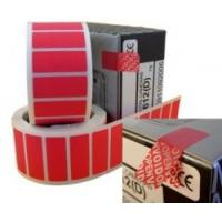 Non Residue Void Sticker Label , Single Sided Tamper Proof Labels Manufactures