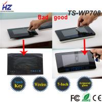 "China High-strength tempering glass 2.4GHz digital 7"" tft lcd color competition video door phone intercom system on sale"