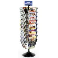 Floor Magazine Display Racks with 36 Pockets for Advertising Agencies Manufactures