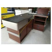OEM Supermarket Checkout Counter / Stainless Steel Cash Register Table Manufactures