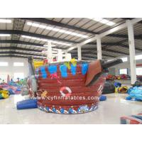 China Inflatable Pirate Boat Combo 8x5m / Kids Outdoor Inflatable Pirate Ship Inflatable Combo on sale
