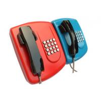 Public Auto Dial Emergency Phone With Headset , Armoured Corded Wall Phone Manufactures