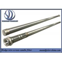 Stainless Steel Slot Tube Candle Filter With End Fittings Manufactures