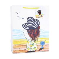 Hot stamping pictures fancy paper bag custom figure printing shopping bags Manufactures