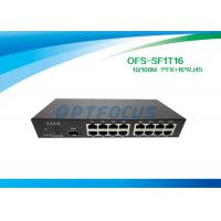 China Single 10gb Fiber Optic Switch 1 Port SFP Slot 100BASE - Fx 16Port 10 / 100BASE - Tx wholesale