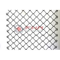 Chinese Manufacturer of Black Chain Link Fence Wholesale 50mm Hole Size 9 Gauge Wire Manufactures