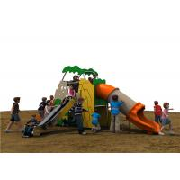 Colorful PE Outdoor Playground Equipment With Stainless Slide For Kids Manufactures