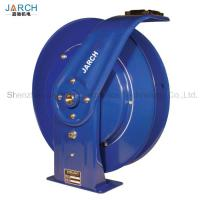 Metal Retractable Hose Reel Multi Positional Guide Arm Facilitates Ceiling / Wall / Floor Mount Manufactures