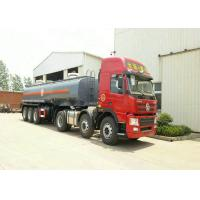 3 Axles Spring Suspension Chemical Tanker Truck For 33CBM Sodium Hypochlorite NaOCl Manufactures