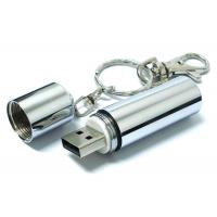 China Keychain Metal USB 2.0 Flash Drive Disk Silver Battery Shaped 3 years warranty on sale