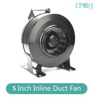 China 5 Inch Ducted Fan Motor Air Inline Duct Fans Centrifugal Ducted Exhaust Fan Best Grow Room Ducting Passive Intake on sale