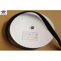 Black Self stick Hook and Loop Tape , touch tape hook and loop 1 inch custom shape Manufactures