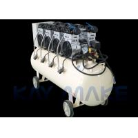 China 1.5KW 2HP Oil Free Piston Air Compressor , Low Noise Air Compressor With Wheels on sale