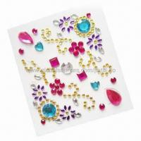 Rhinestone 3D stickers for mobile phone decoration Manufactures