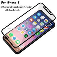 3D Full Cover Tempered Glass Screen Protector 0.33mm 9H Anti Fingerprint Case Friendly for iPhone 8 Manufactures