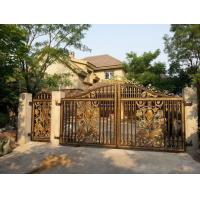 Galvanized & Powder Coated Wrought Iron Fence Gate / Iron Garden Gate Manufactures